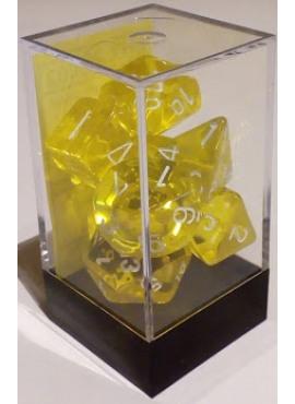 Translucent Poly Dice: Yellow