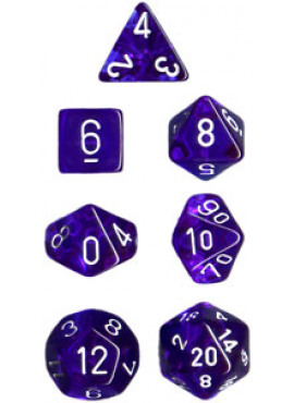 Translucent Poly Dice: Blue