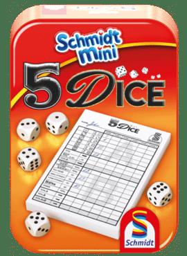 5 Dice Mini Tin