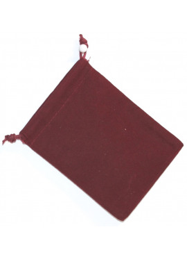 Suede Dice Bag: Burgundy