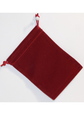 Suede Dice Bag: Red