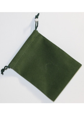 Suede Dice Bag: Green