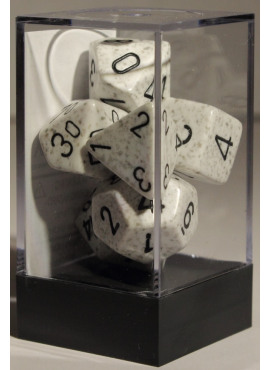Speckled Poly Dice: Arctic Camo