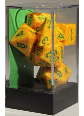 Speckled Poly Dice: Lotus