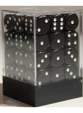 Opaque D6 Dice Block: Black
