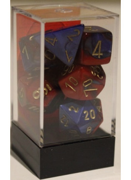 Gemini Poly Dice: Blue & Red