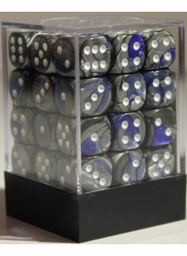 Gemini D6 Dice Block: Blue - Steel