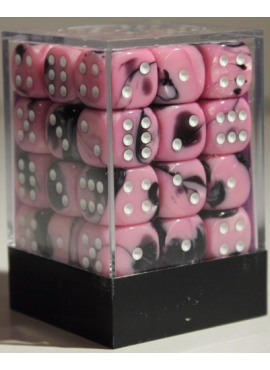 Gemini D6 Dice Block: Black - Pink