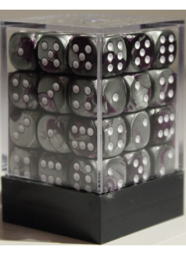 Gemini D6 Dice Block: Purple - Steel