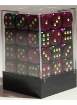 Gemini D6 Dice Block: Green - Purple