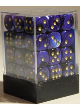 Gemini D6 Dice Block: Black - Blue