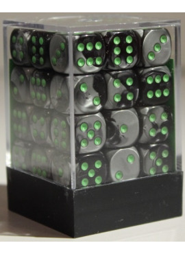 Gemini D6 Dice Block: Black - Grey