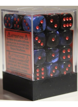 Gemini D6 Dice Block: Black - Starlight