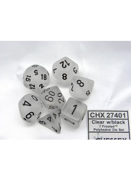 Frosted Poly Dice: Clear