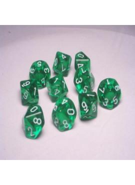 Translucent D10: Groen