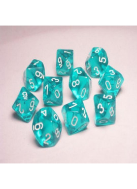 Translucent D10: Teal