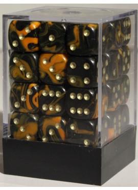 Marble D6 Brick: Orange
