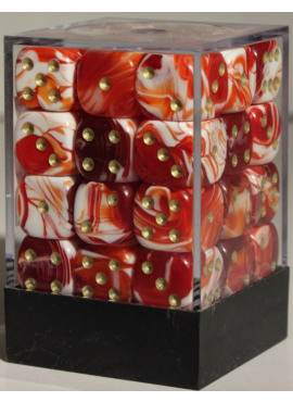 Marble D6 Brick: Red