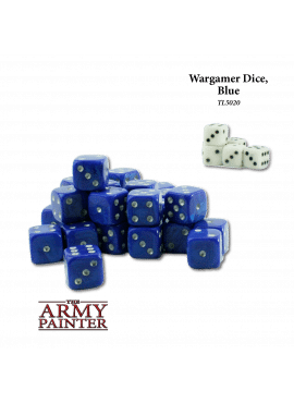 Wargame Dice Blue / White