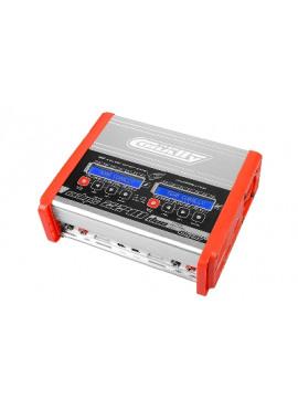 Team Corally - Snellader - Eclips 2240 Duo - AC/DC - 240W Vermogen - LCD Display - (2X) 1-6 Li-Xx - 1-15 Ni-Xx