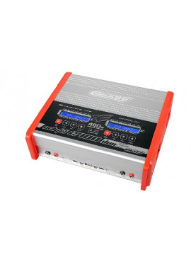 Team Corally - Snellader - Eclips 2400 Duo - AC/DC - 400W Vermogen - LCD Display - (2X) 1-6 Li-Xx - 1-15 Ni-Xx
