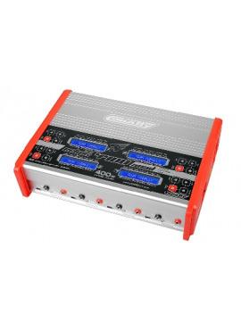 Team Corally - Snellader - Eclips 4400 Quad - AC/DC - 400W Vermogen - LCD Display - (4X) 1-6 Li-Xx - 1-15 Ni-Xx