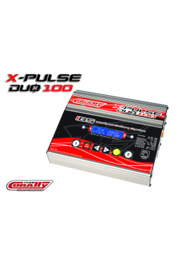 Team Corally - X-Pulse 100 Duo Charger, AC/DC, 2X100W, Lcd Screen, (2X) 2-6 Li-Xx, 1-15 Ni-Xx