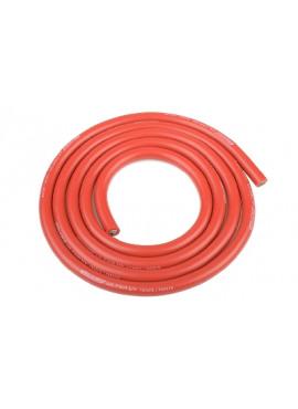 Team Corally - Ultra V+ Siliconen kabel - Super flexibel - Rood - 10AWG - 2683 / 0.05 Strengen - BD 5.5mm - 1m