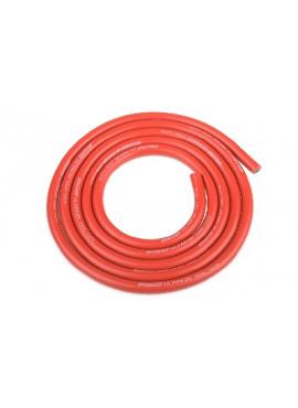 Team Corally - Ultra V+ Siliconen kabel - Super flexibel - Rood - 12AWG - 1731 / 0.05 Strengen - BD 4.5mm - 1m