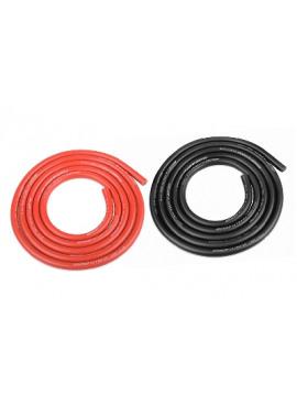 Team Corally - Ultra V+ Siliconen kabel - Super flexibel - Zwart en Rood - 12AWG - 1731 / 0.05 Strengen - BD 4.5mm - 2x 1m