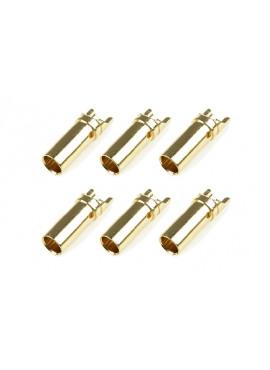 Team Corally - Bullit stekker 3.5mm - Vrouwelijk - Goud contacten - Ultra lage interne weerstand  - 6 st
