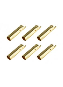 Team Corally - Bullit stekker 4.0mm - Vrouwelijk - Goud contacten - Ultra lage interne weerstand  - 6 st