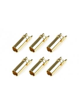 Team Corally - Bullit stekker 5.0mm - Vrouwelijk - Goud contacten - Ultra lage interne weerstand  - 6 st
