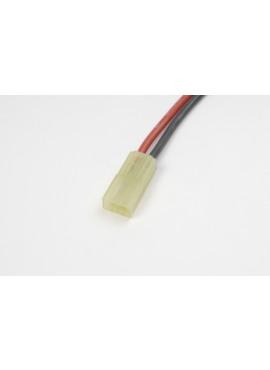 G-Force RC - Connector met kabel - Mini Tamiya - Goud contacten - Vrouw. connector - 14AWG Siliconen-kabel - 10cm - 1 st