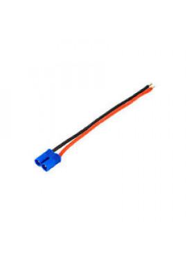 G-Force RC - Connector met kabel - EC-2 - Goud contacten - Man. connector - 14AWG Siliconen-kabel - 12cm - 1 st
