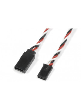 G-Force RC - Servo verlengkabel - Gedraaide kabel - Futaba - 22AWG / 60 Strengen - 90cm - 1 st