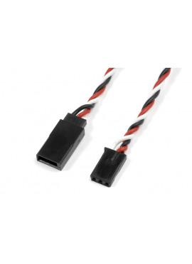 G-Force RC - Servo verlengkabel - Gedraaide HD siliconen-kabel - Futaba - 22AWG / 60 Strengen - 30cm - 1 st