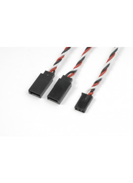 G-Force RC - Servo Y-kabel - Gedraaide HD siliconen-kabel - Futaba - 22AWG / 60 Strengen - 30cm - 1 st