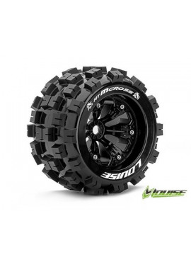 Louise RC - MT-MCROSS - 1-8 Monster Truck Banden Set - Verlijmd op velg - Medium - 3.8