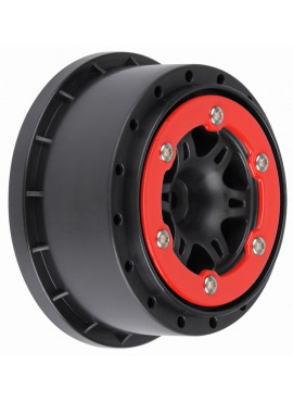 Split Six 2.2/3.0 Red/Black Bead-Loc Wheels (2) for Sla