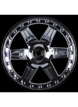 Desperado 2.8 (Traxxas Style Bead) Black Chrome Wheels (2)