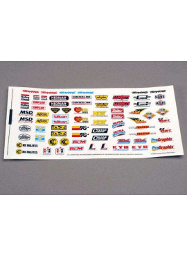 Decal sheet, racing sponsors
