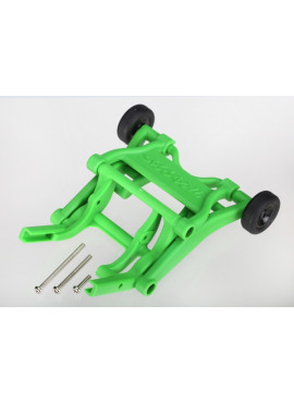 Wheelie bar, assembled (green) (fits Stampede, Rustler, Band