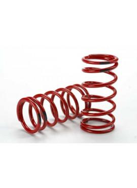 Spring, shock (red) (GTR) (4.4 rate black) (1 pair)