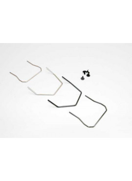 Wires, sway bar (front & rear, hard & soft) (Slash 4X4)/ 3x6