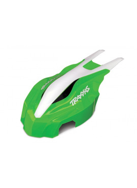 Canopy, front, green/white, Aton