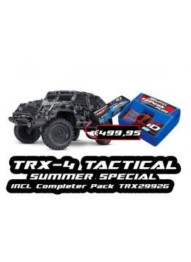 Traxxas TRX-4 Tactical Crawler including completer pack TRX2992G
