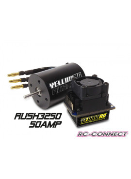 Yellow-RC Rush Brushless Combo 50A 3250kV