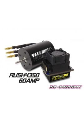 Yellow-RC Rush Brushless Combo 60A 4350kV