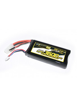 Yellow RC losi 5ive-T receiverPack, Lipo 3600mAh 7.4V
